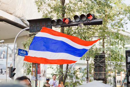 instability: against the government at sukhumvit road on Febuary 2, 2014 in Bangkok, Thailand