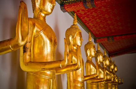 Buddha statue at Wat Pho temple  Bangkok, Thailand  photo