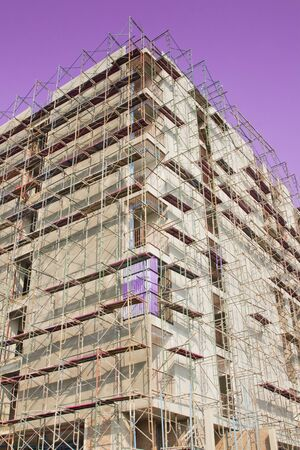 Scaffold for high building construction photo