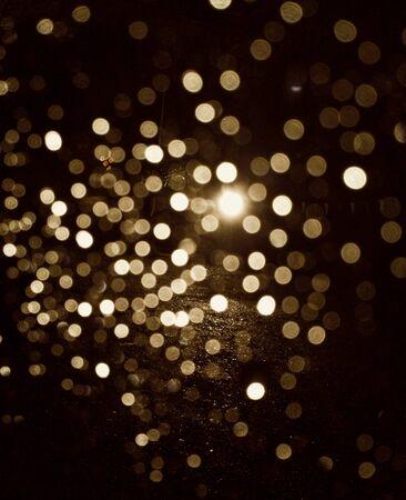 glow: Bokeh from spotlight  Stock Photo