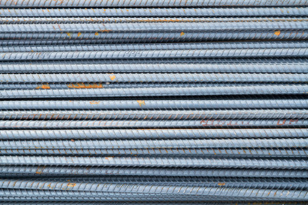 Stack of rebars photo