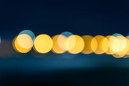 Horizontal of bokeh light background