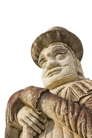 Chinese stone statue in Wat Pho, Bangkok, Thailand Archivio Fotografico