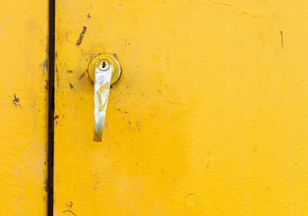 Door handle to open engine of the machine Archivio Fotografico