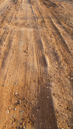 Laterite soil road Temporary in the construction site Stock Photo