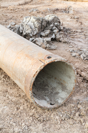 Steel casing for protection soil slide from drilling
