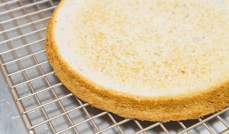 Let cake cool on a cooling rack for assemble the cake in next step