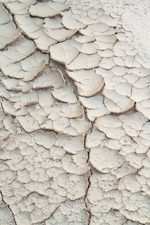 Detail crack dry surface and peeling of soil