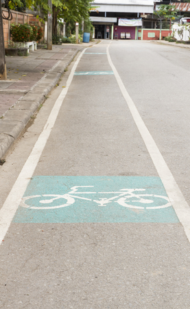 Bicycle lane in the old city of Thailand's Phrae province