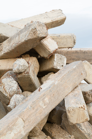 Stack of concrete piles