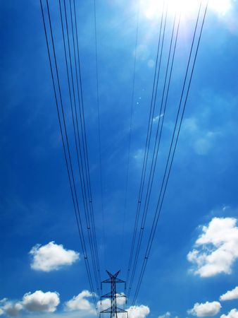 electrical powerlines Stock Photo - 4627478