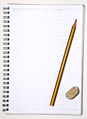 Notebook And Pencil Stock Photo - 4785650