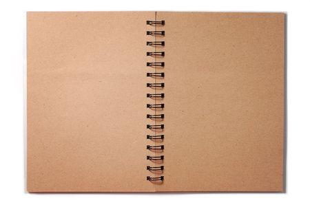Blank Spiral Brown Note Imagens
