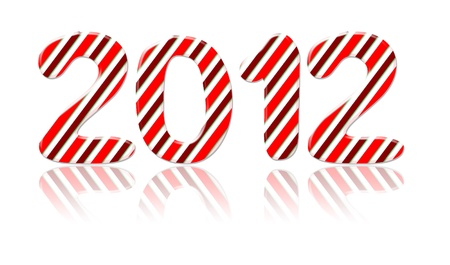 2012 Candy Cane happy new year Stock Photo - 11698097
