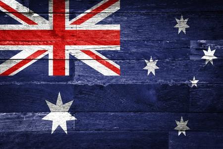 australia flag painted on old wood background 版權商用圖片 - 11698141