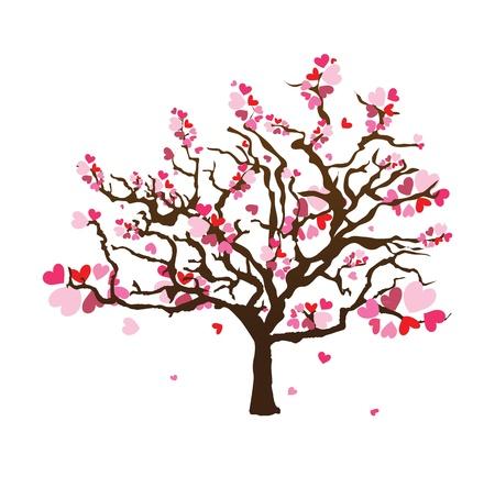 Zusammenfassung Herzform Baum Vektorgrafik