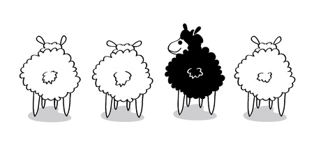 Black Sheep  Stock Vector - 13228969