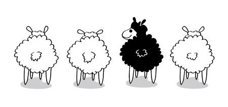 mouton noir: Brebis galeuse Illustration