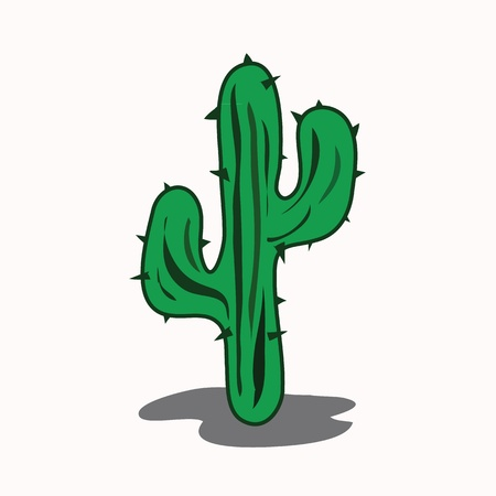 Cactus cartoon  Stock Vector - 13228979