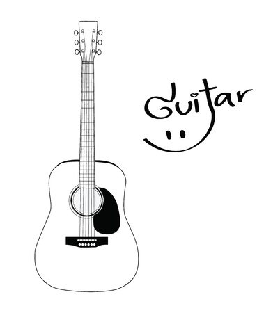 nylon string: Acoustic Guitar  Illustration