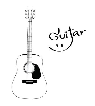 gitara: Gitara akustyczna Ilustracja