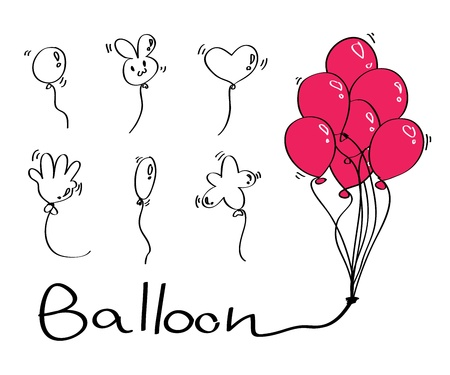 red balloons: Set of diffrence Balloon type