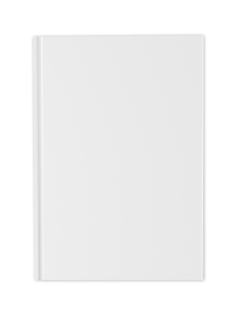 blank book cover: blank white cover of  book isolated on white
