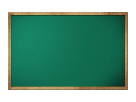 Chalkboard blackboard with frame isolated on white photo