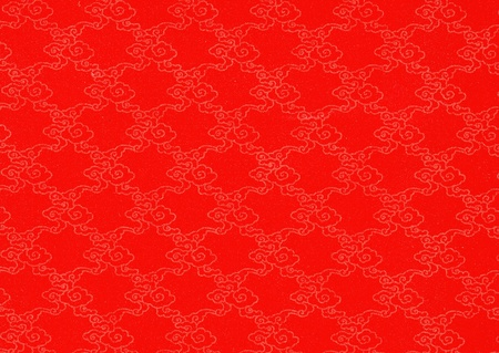 chinese style: Chinese clouds textured on red grunge background