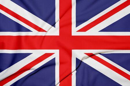 grunge union jack: Great Britain flag background Stock Photo