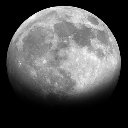 Half moon in the night background Imagens