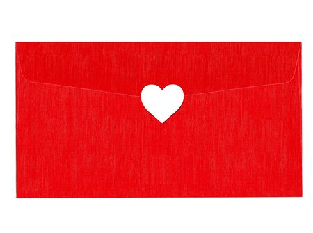 Love red letter with white heart photo
