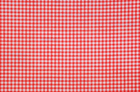 red and white tablecloth background Stock Photo