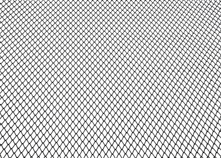 Steel net on white background photo