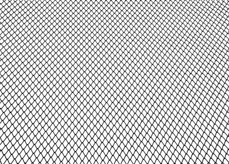 Steel net on white background photo
