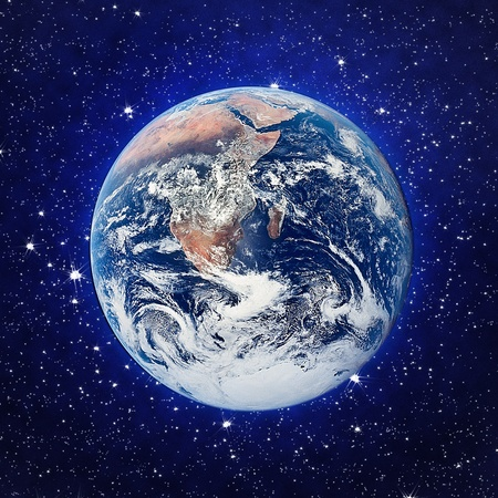 The Earth and stars background photo