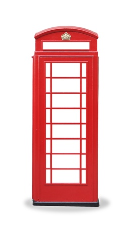 antique booth: The typical red telephone booth of London,UK