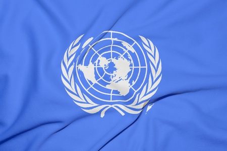 nazioni unite: Bandiera delle Nazioni Unite di sfondo Editoriali