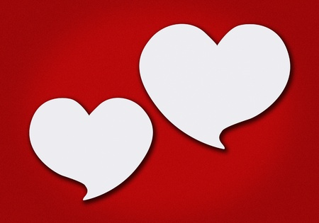 valentine's paper heart on a red grunge background Stock Photo - 13362238