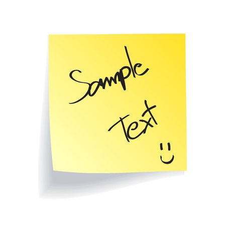Yellow Stick Note on White Background Stock Vector - 13486042