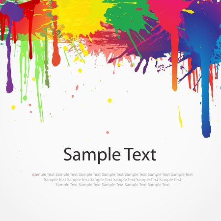 Colorful paint splat on white background