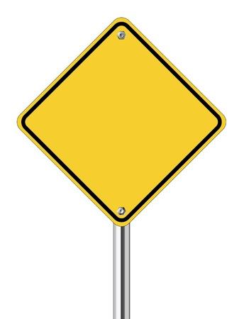 흰색 배경에 빈 노란색도 표지판 일러스트