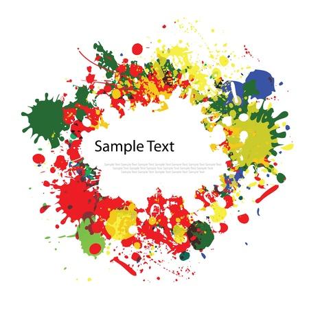 다채로운 잉크는 흰색 배경에 밝아진