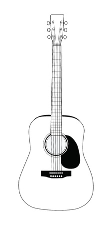 acoustic: Acoustic guitar on white background