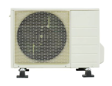 Air condition condenser isolated on white Stock Photo