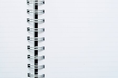 Close-Up of blank spiral dot line white note background Stock Photo - 13803089