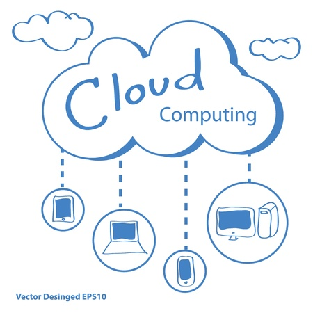 private public: Cloud computing concept Stock Photo