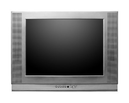 CRT TV With Screen isolated on white background photo