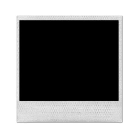 instant photo isolated on white background photo