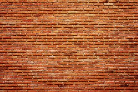 red wall: Old brick wall texture background